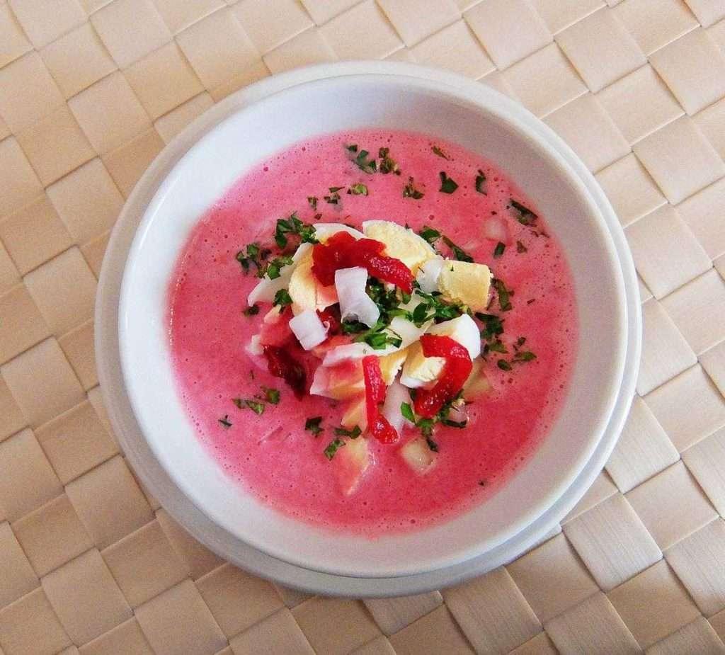Sopa fría de remolacha - Lituania
